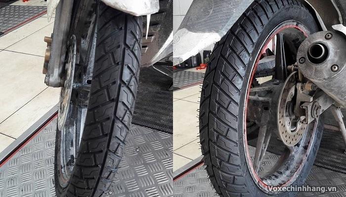 Vỏ xe exciter 135 loại nào tốt giá lốp ex135 bao nhiêu - 3