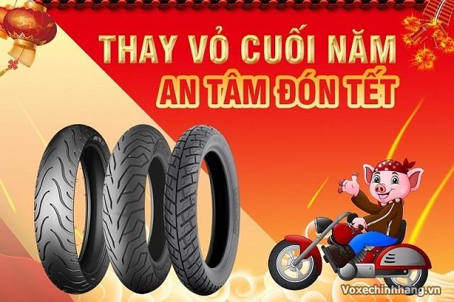 Bảo dưỡng xe máy cuối năm đón tết cần quan tâm lốp xe - 1