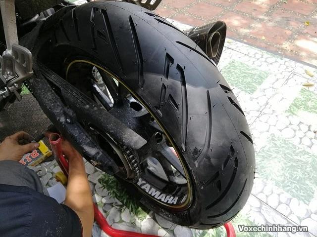 Yamaha r15 lên lốp 160 có được không giá bao nhiêu - 1