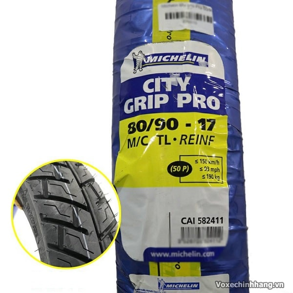 Vỏ xe Michelin City Grip Pro 80/90-17